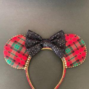 Minnie Ears, Plaid Minnie ears, holiday Ears